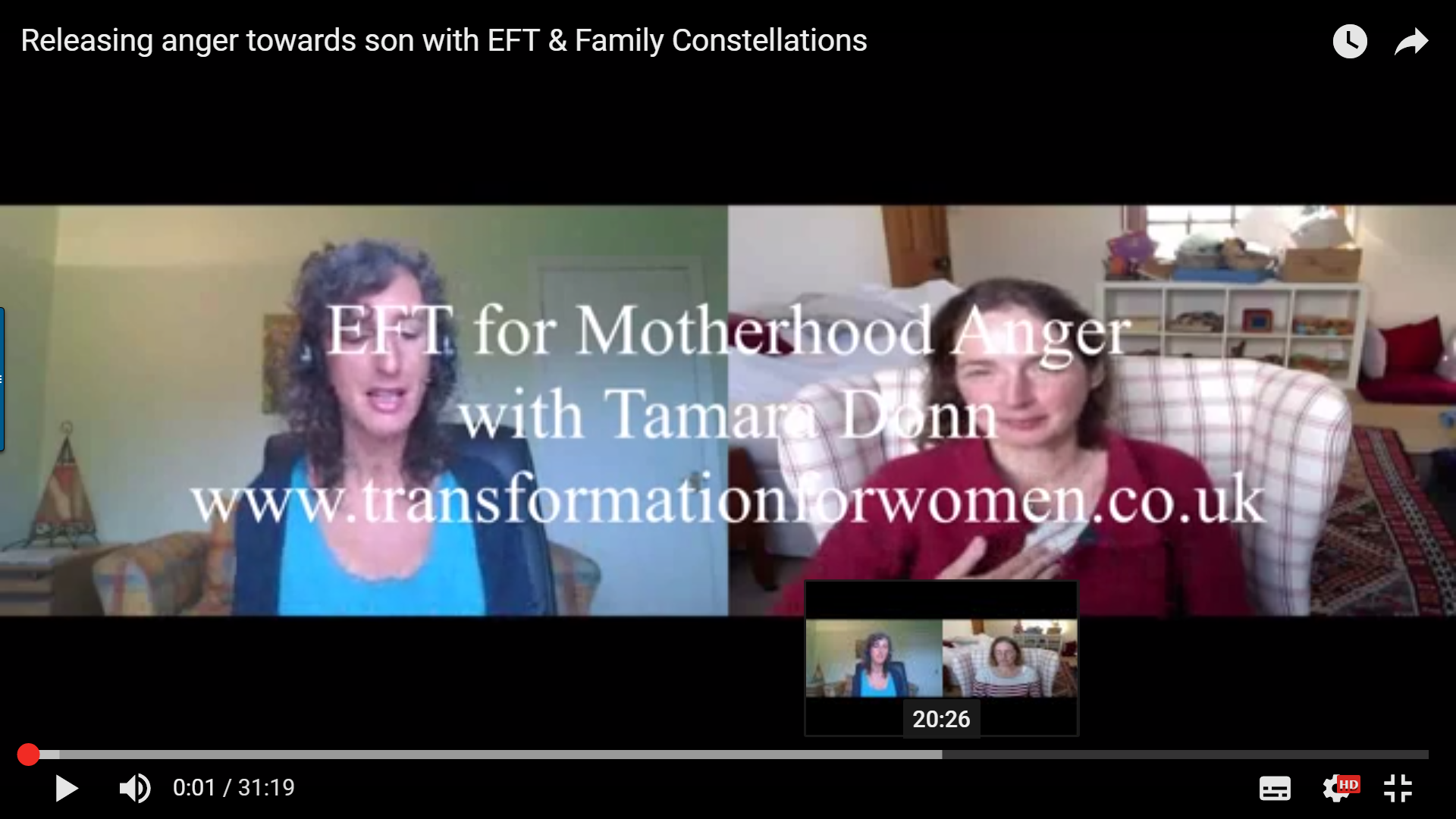 Releasng anger towards son with EFT