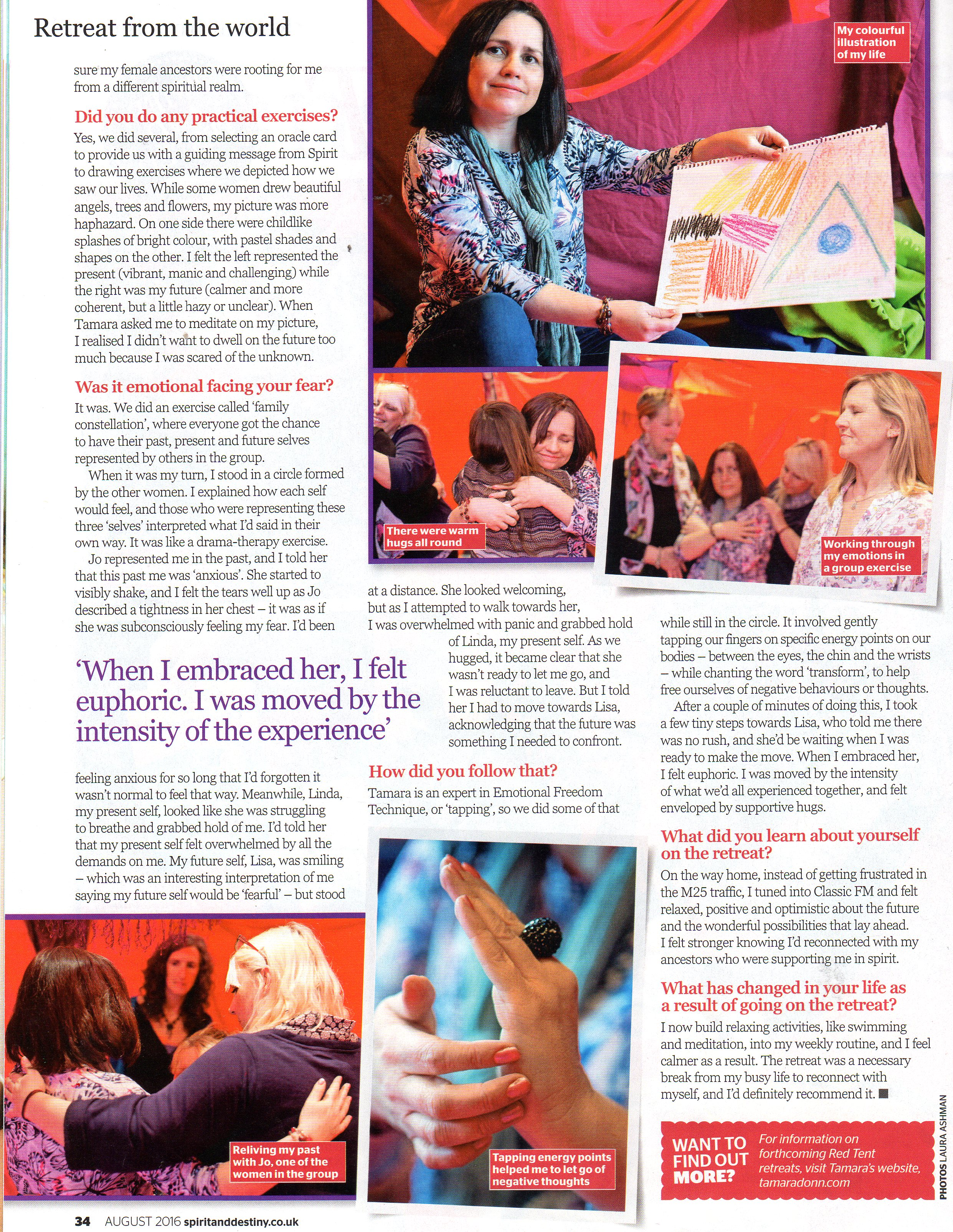 Red Tent Retreat as featured in Spirit and Destiny Magazine - part 3